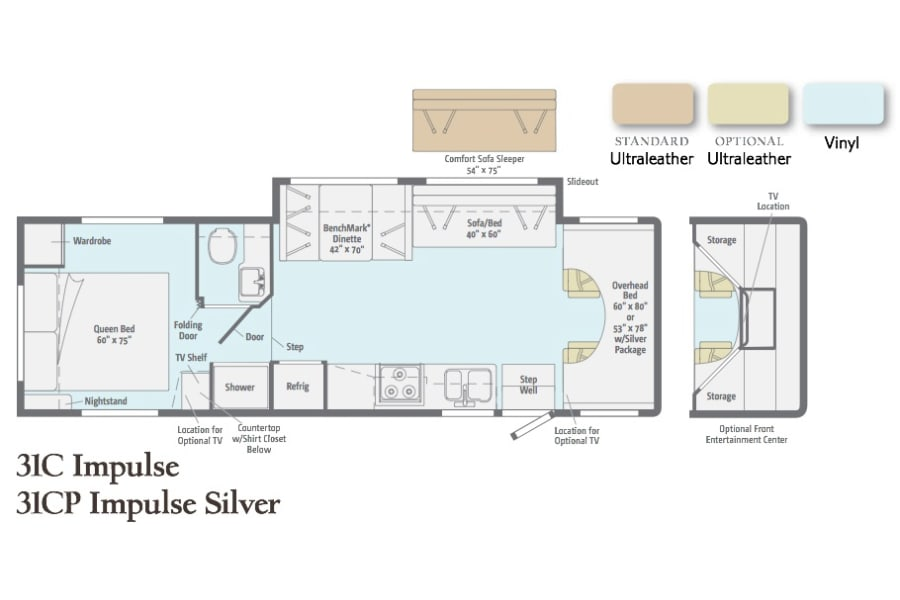 floorplan Winnebago Itasca Impulse NI Gulfport, FL