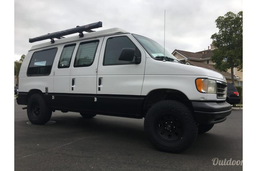 """floorplan """"Baja Bus"""" 1993 Ford Sportsmobile Camper San Clemente, CA"""