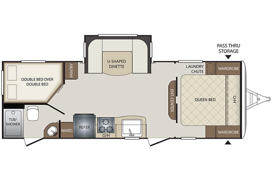 floorplan 2017 Keystone Bullet San Marcos, CA