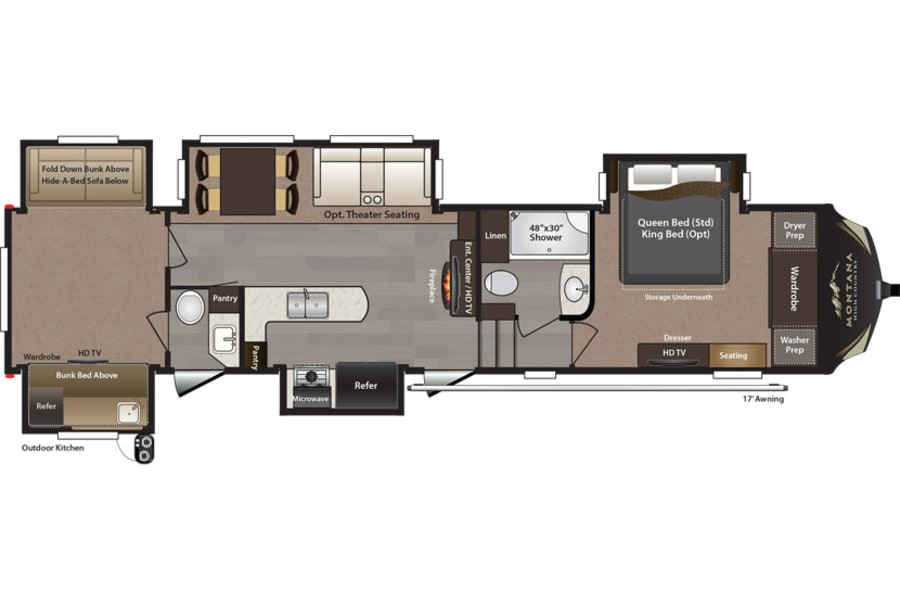 floorplan 2016 Keystone Montana High Country Indialantic, FL