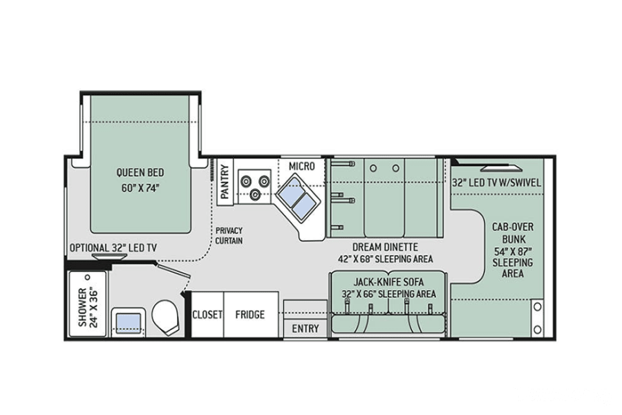 floorplan 2017 Thor Motor Coach Freedom Elite South San Francisco, CA