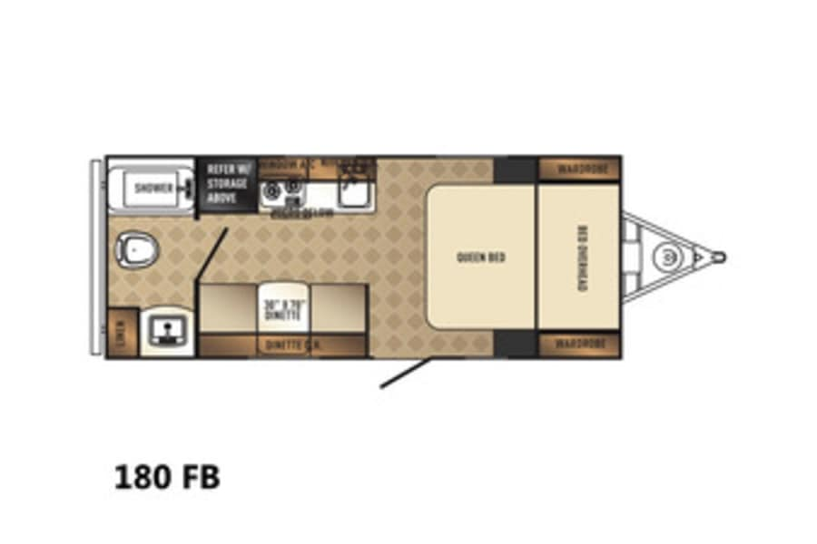 floorplan 2018 Palomino Palomini 180FB Buda, TX