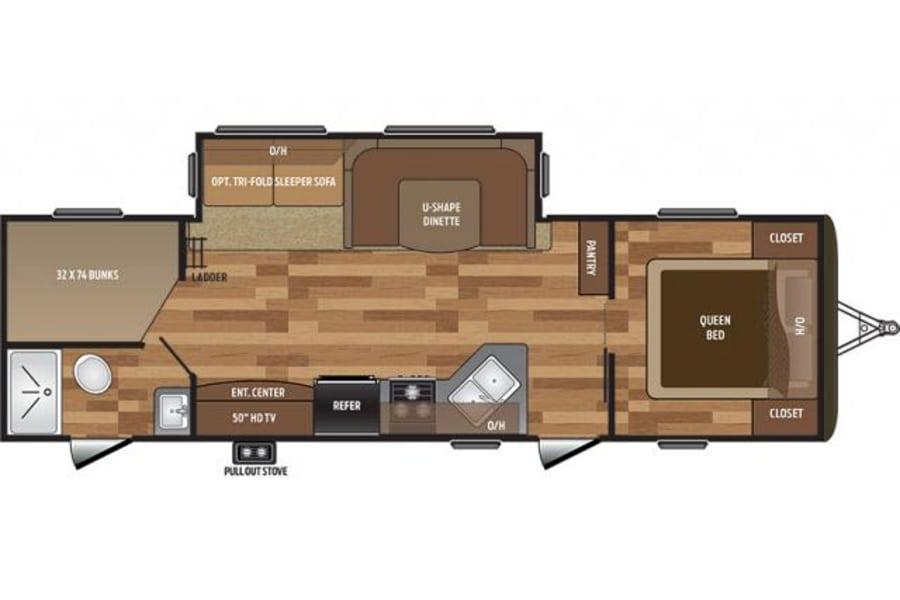floorplan 2017 Keystone Hideout Simpsonville, SC
