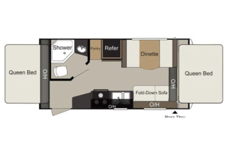 floorplan 2016 Keystone Passport Ultra Lite 171 EXP Avon Lake, OH