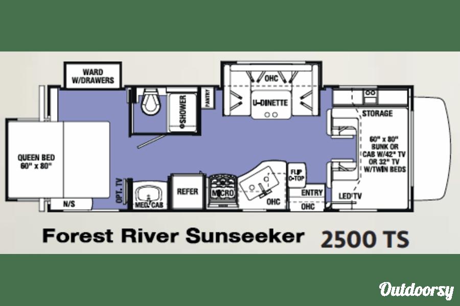 floorplan 2017 Forest River Sunseeker 2500TS Winter Springs, FL