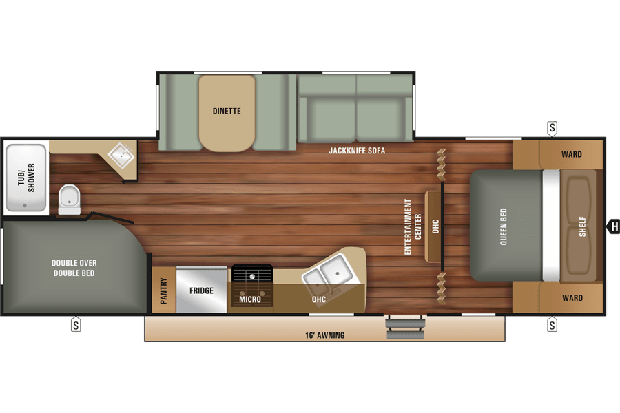 Overall layout of the camper!! Will update with photographs once the camper is available!!
