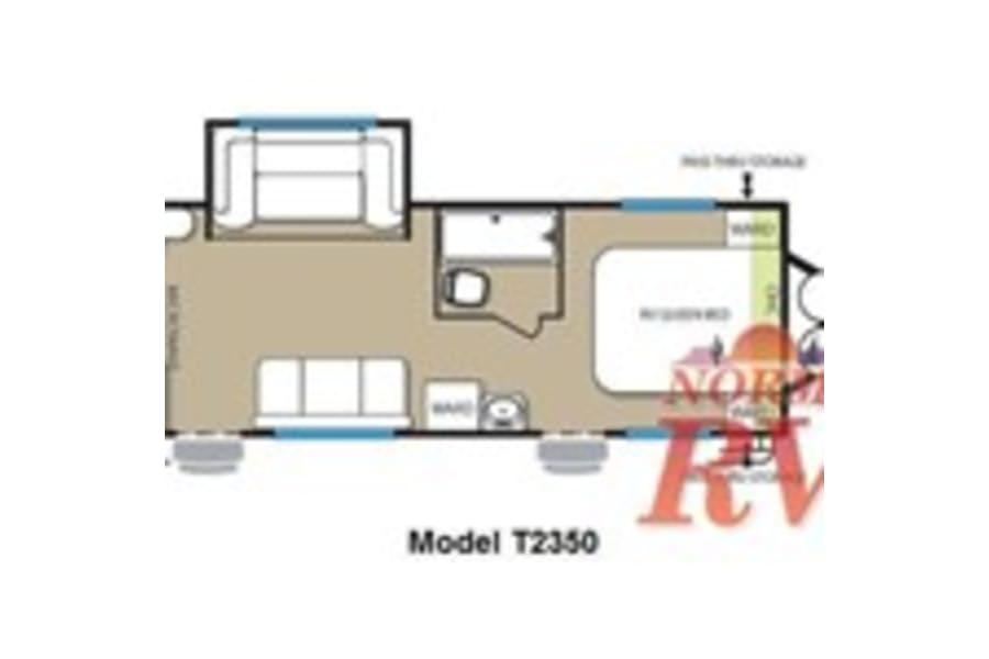 Floor plan of trailer.