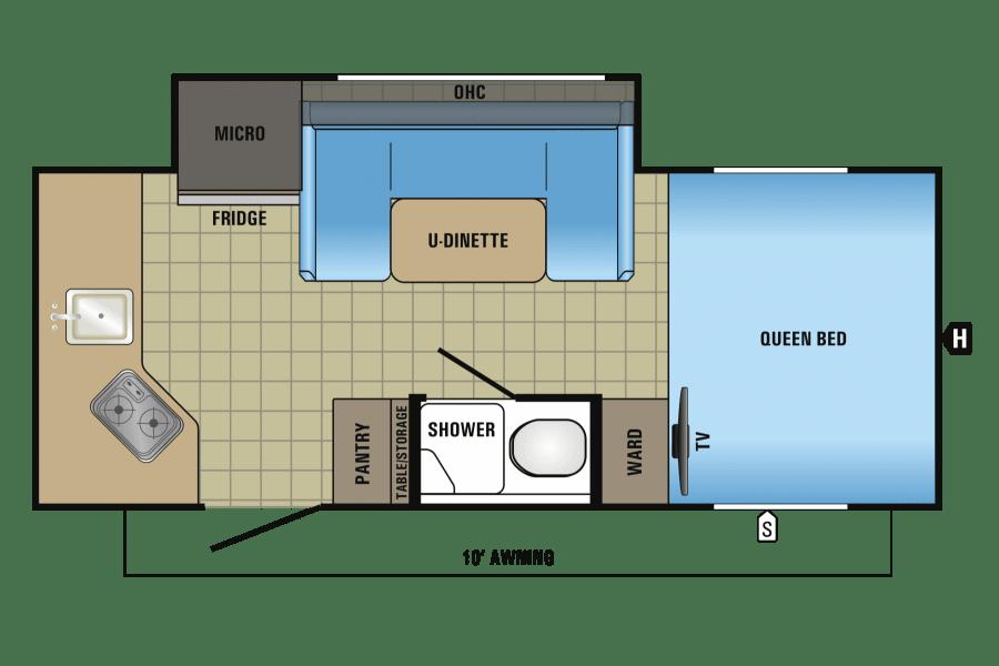Floorplan showing features.