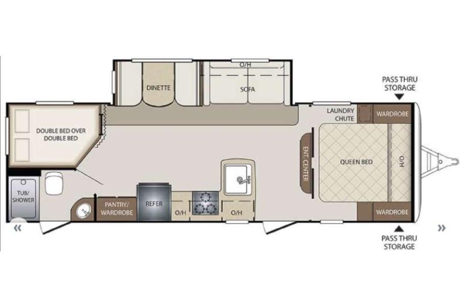 Camper Floor plan.