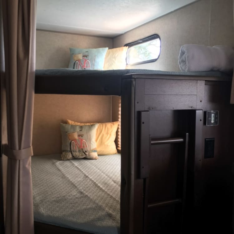 Cozy full size bunks