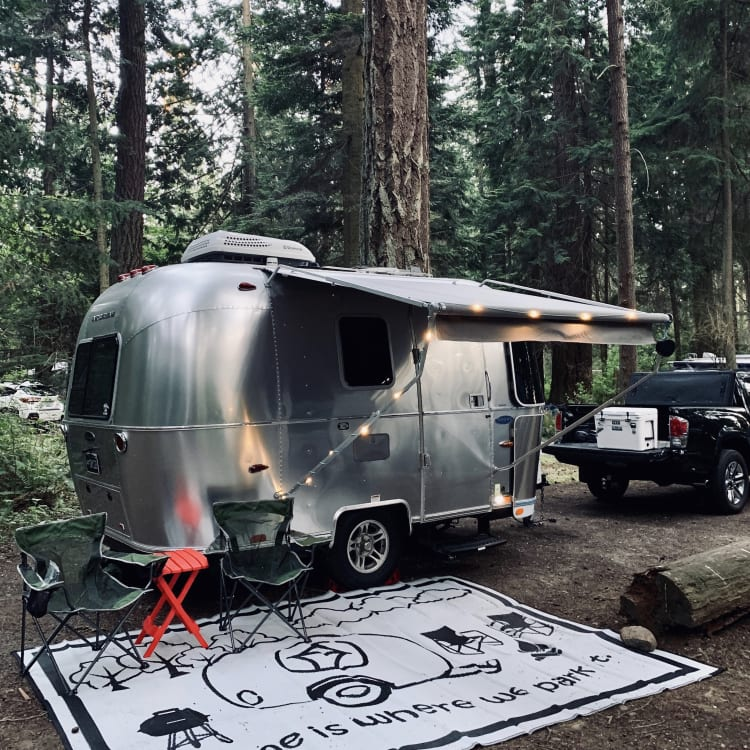 Our 16' Airstream Sport Bambi at Deception Pass, 2019