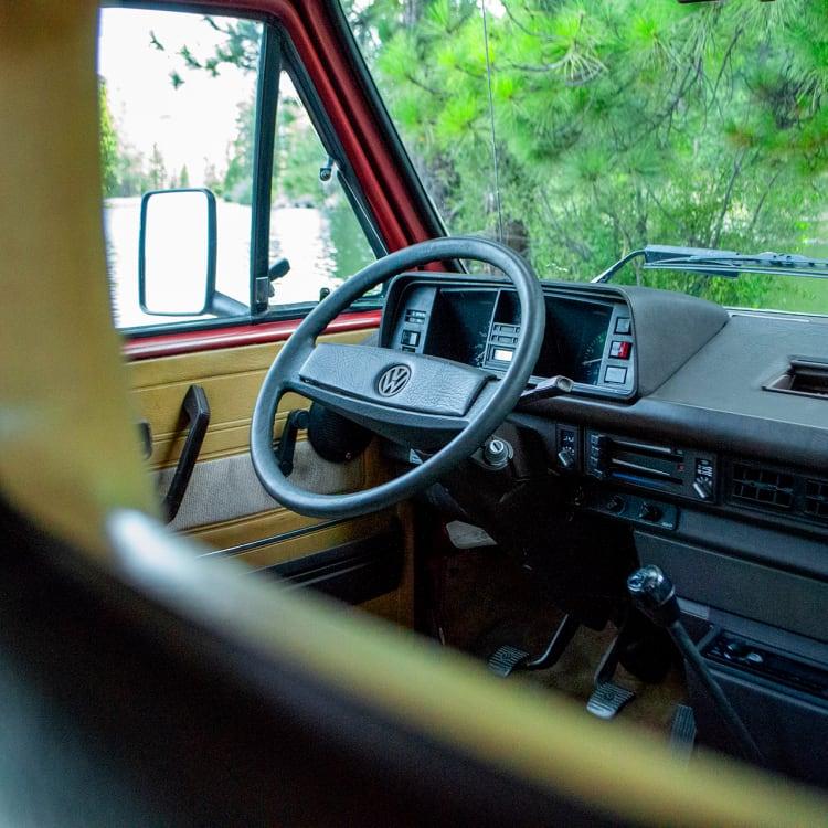 The classic VW cockpit.