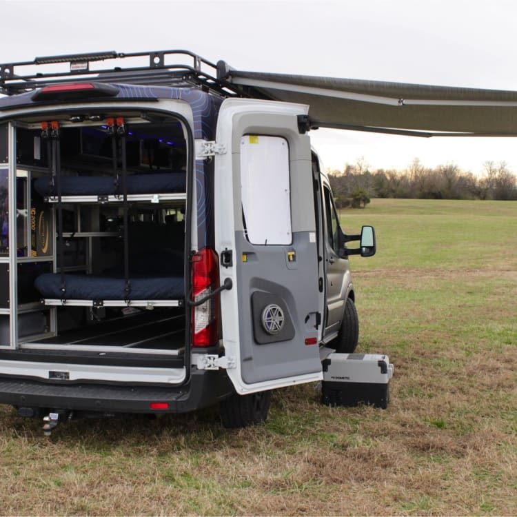 A kick a$$ stereo and an 8ft awning to provide shade and cover from the elements.