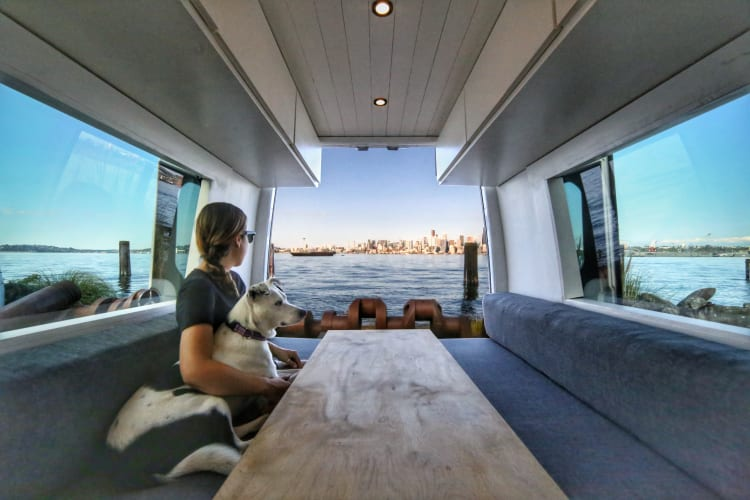 The perfect van for relaxing or working while taking in the surrounding views!