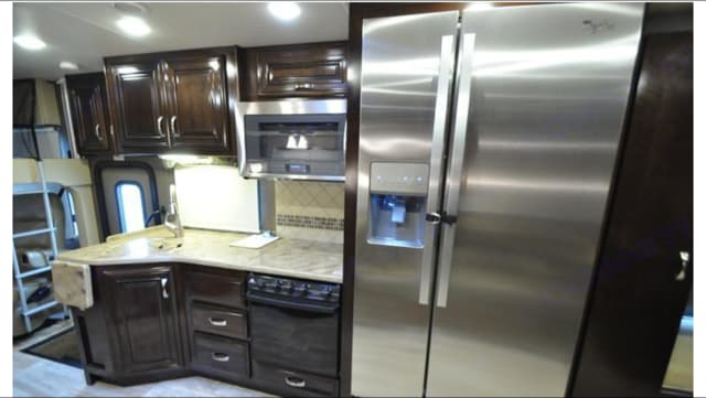 Large Residential Refrigerator. Thor Motor Coach Challenger 2016