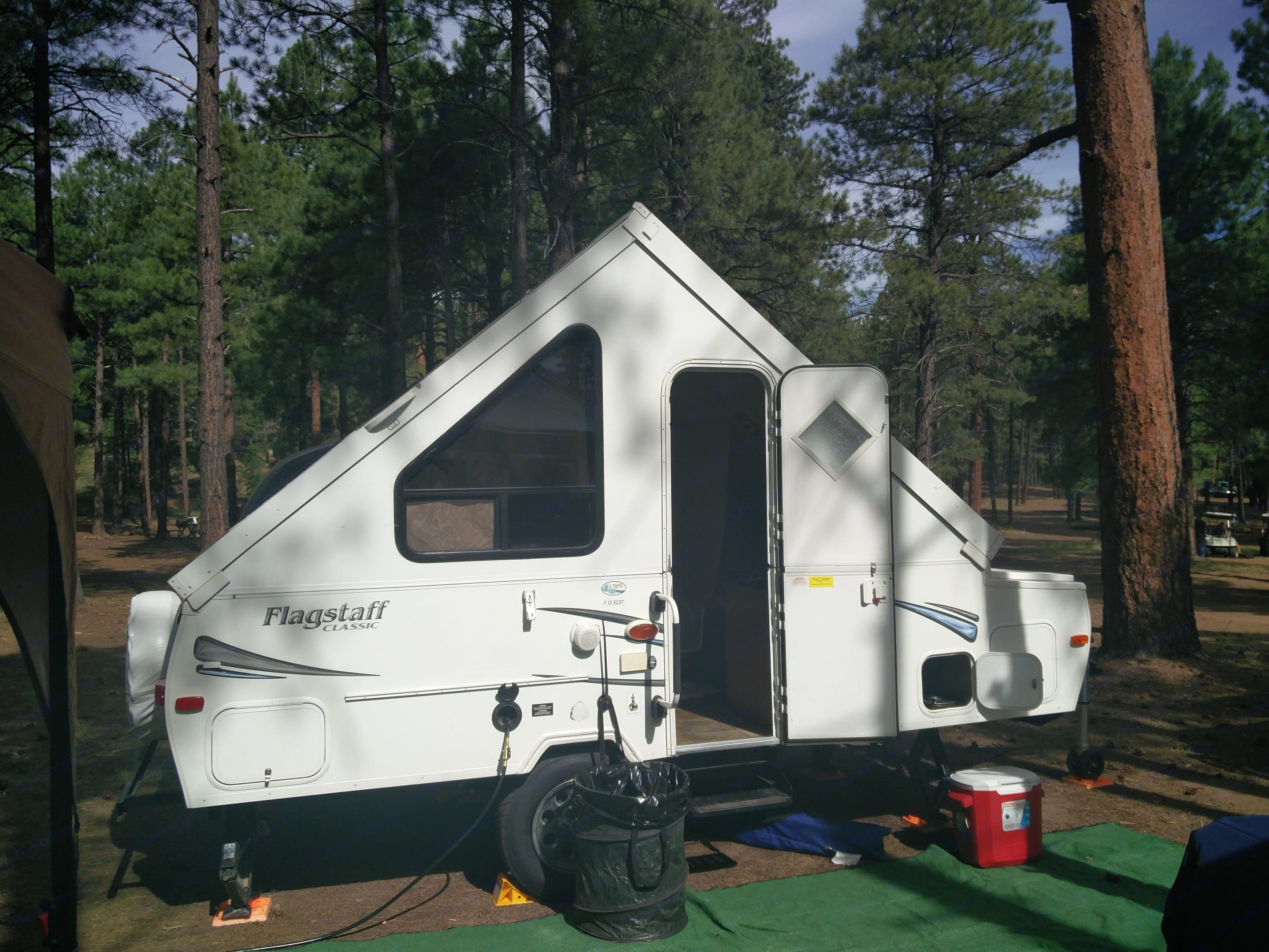 All setup camping pic in Flagstaff AZ. Forest River Flagstaff 2013