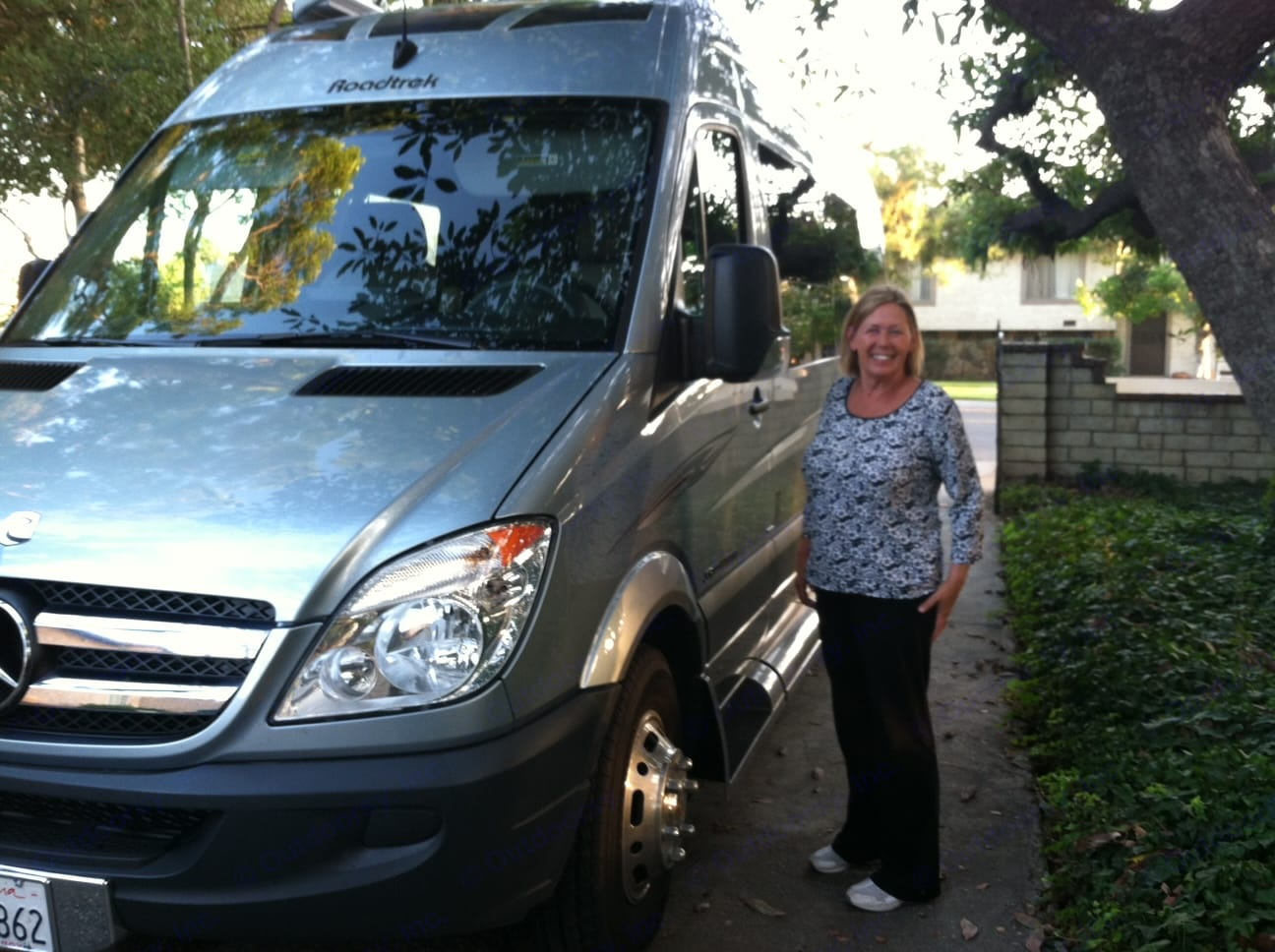 """""""Patti"""", our very first customer. Drove by herself to her 40-yr high school reunion in Seattle!. Roadtrek Mercedes Sprinter Adventurous Rs 2012"""