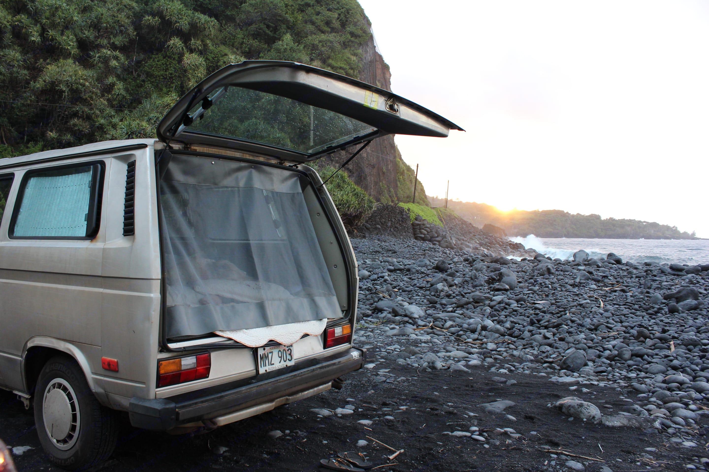 Feel free to take the vans to Hana. Volkswagen Vanagon 1990