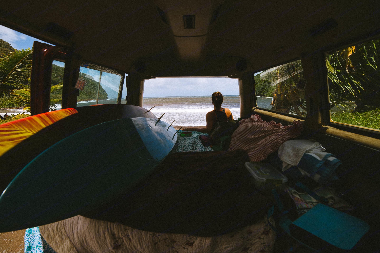 A great van to take surfing in Hana!. Volkswagen Vanagon 1987