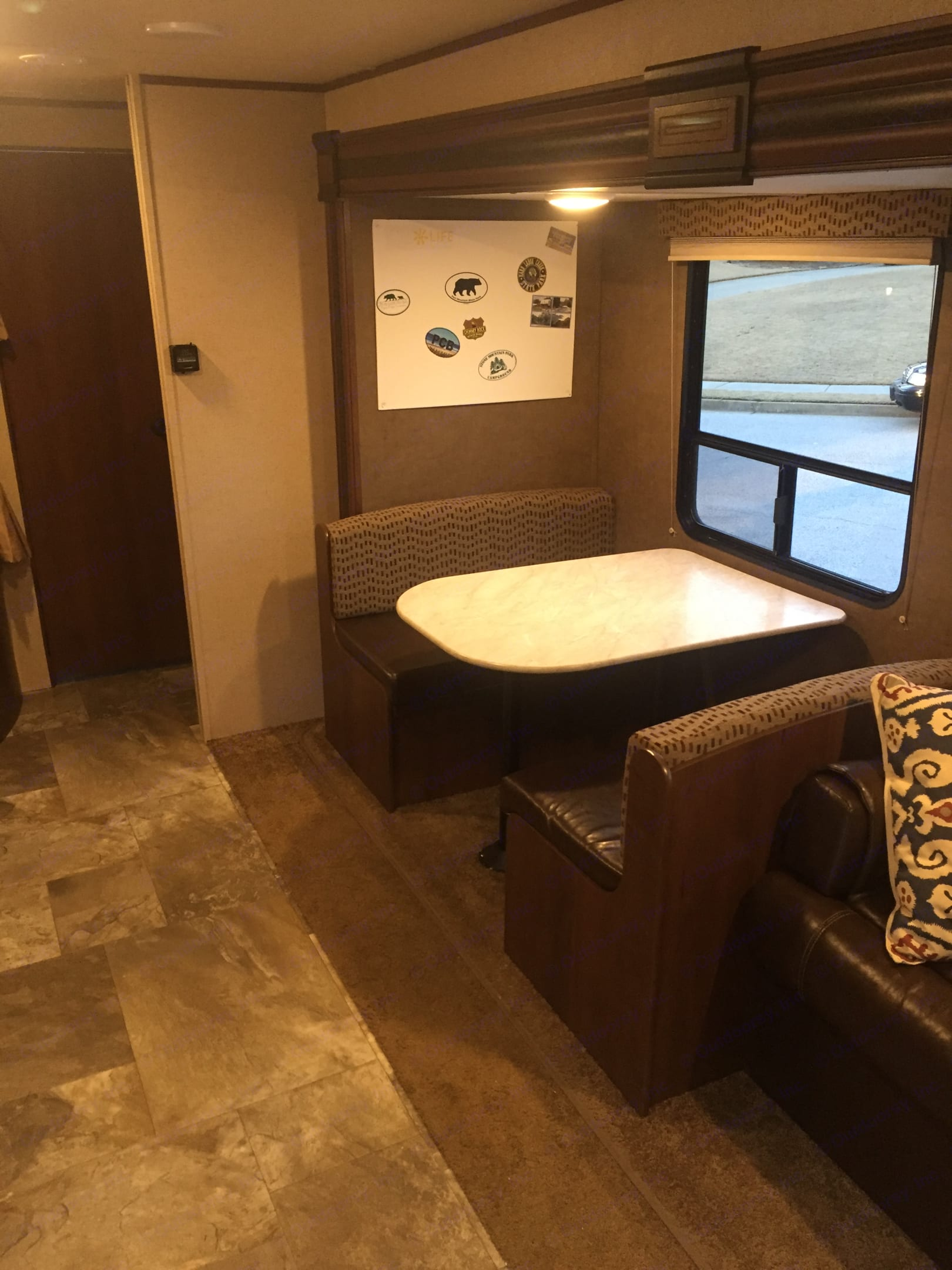 Dining Area folds into double bed. Jayco Jay Flight 2015
