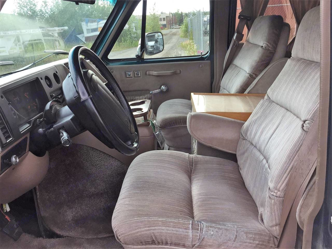 Interior drivers front. Chevrolet G20 1995
