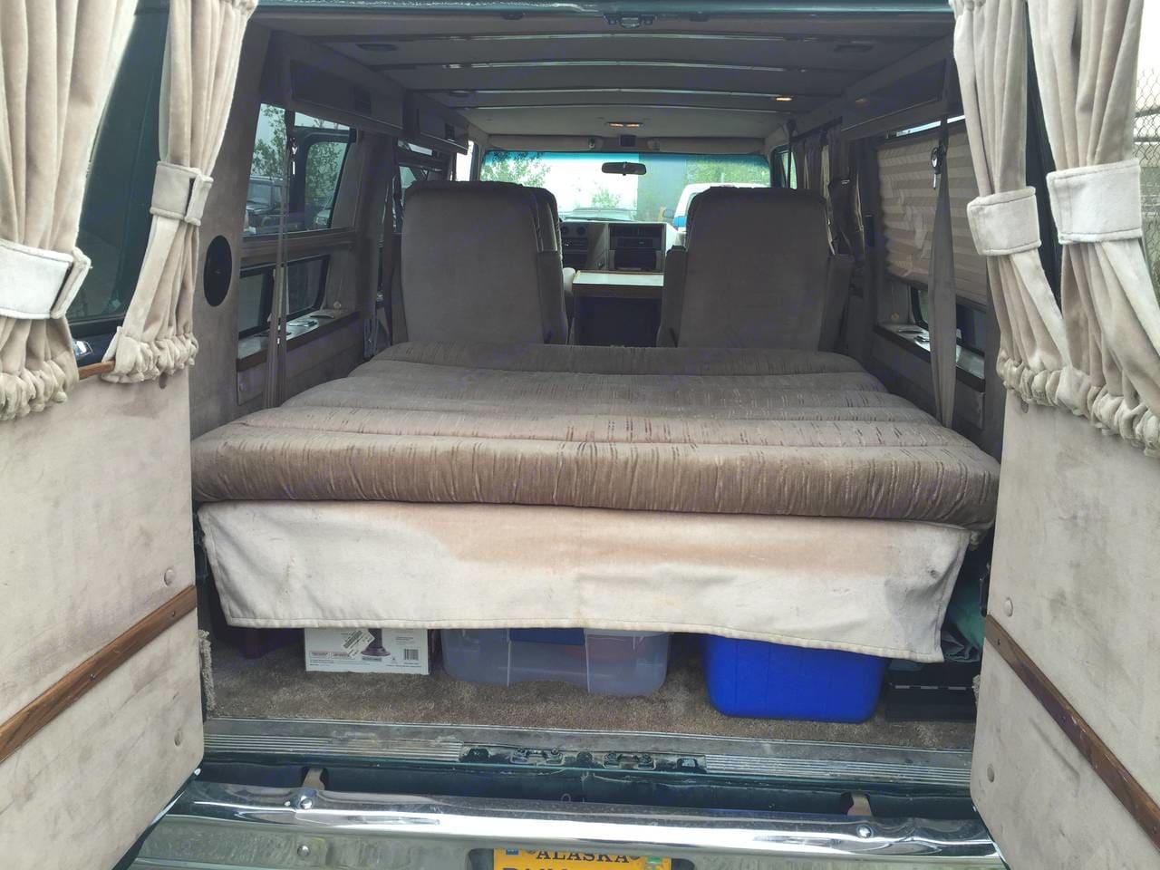 Interior looking forward. Chevrolet G20 1995