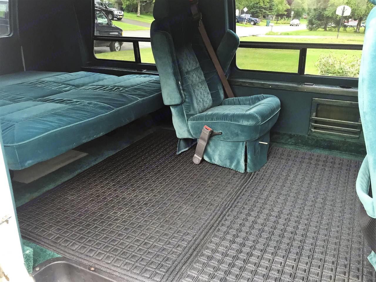 Interior looking from  passenger side doors. Dodge Camper Van 1995
