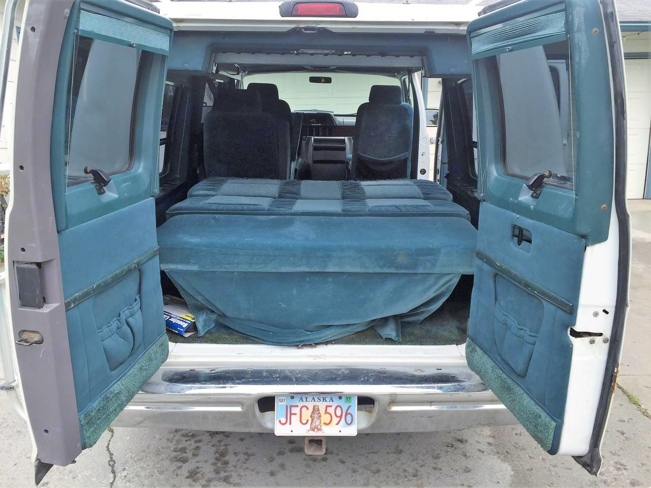 Interior looking forward. Dodge Camper Van 1995