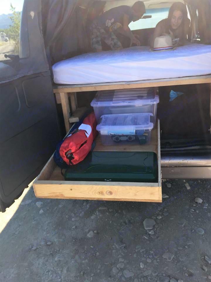 Aft Storage Tray. Ford Camper Van 1994
