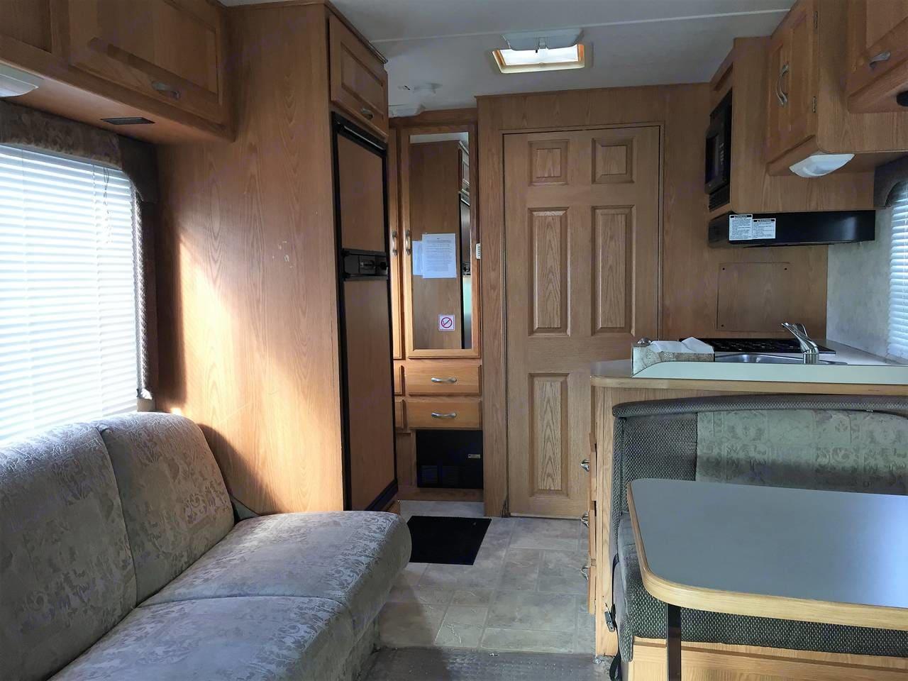Interior facing Aft . Thor Motor Coach Four Winds Five Thousand 2004