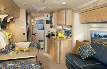 Inside Galley is your home away from home.  Slideout couch/bed gives you more space.  . Winnebago Avion View 23j 2006