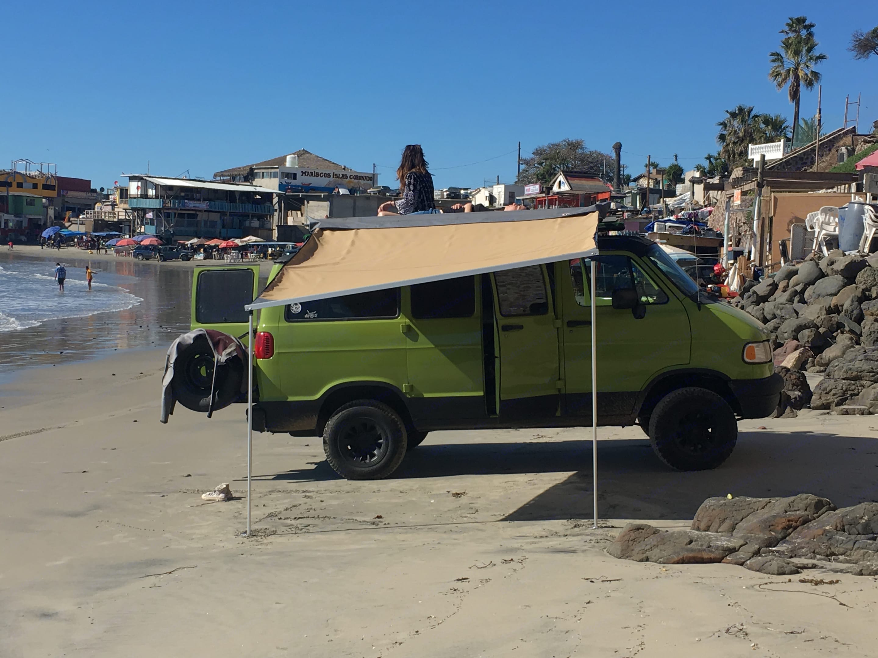 hanging at the beach with the awning out. Dodge B2500 Van 1997