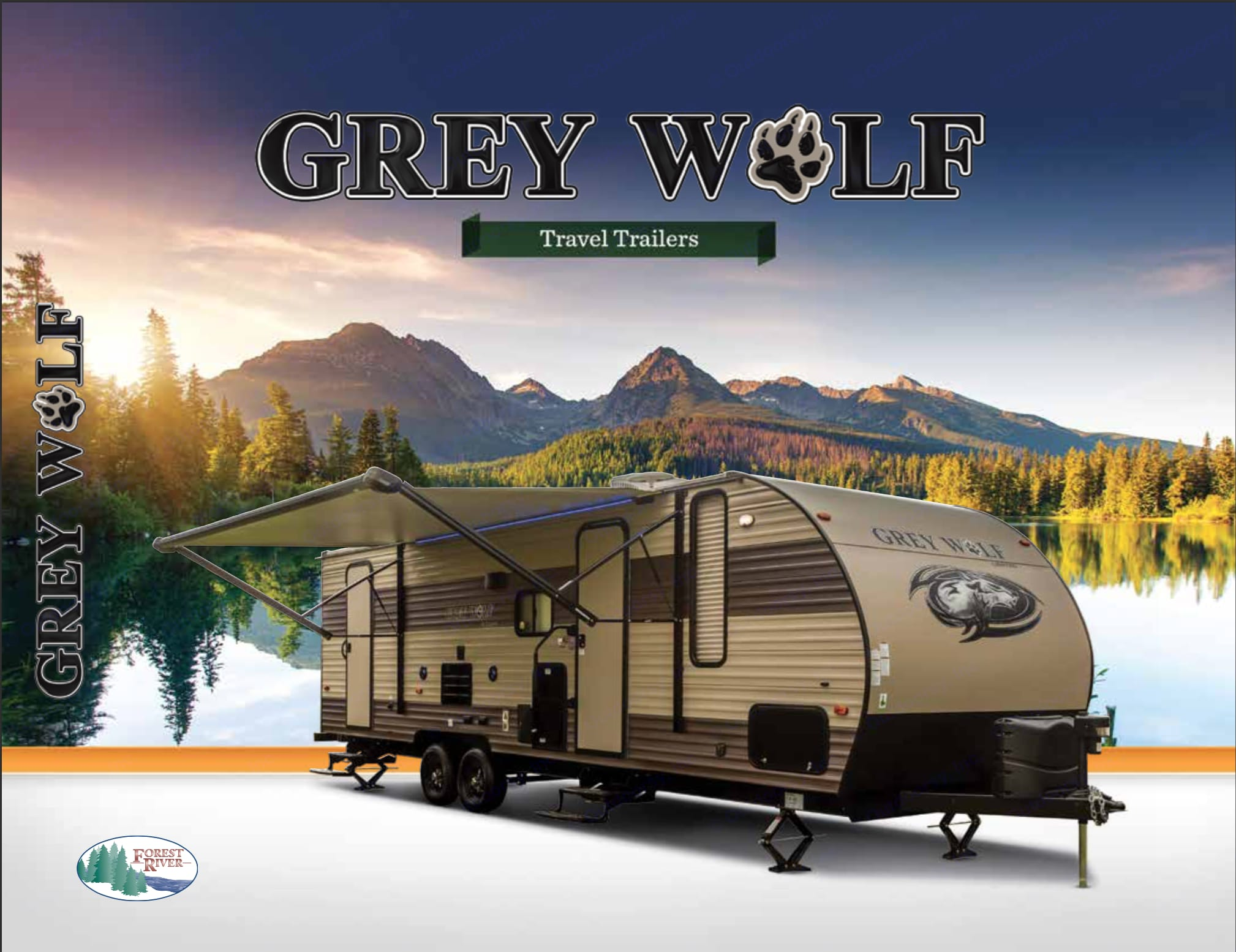 2017 FOREST RIVER GREY WOLF LIMITED EDITION. Forest River Cherokee Grey Wolf 2017
