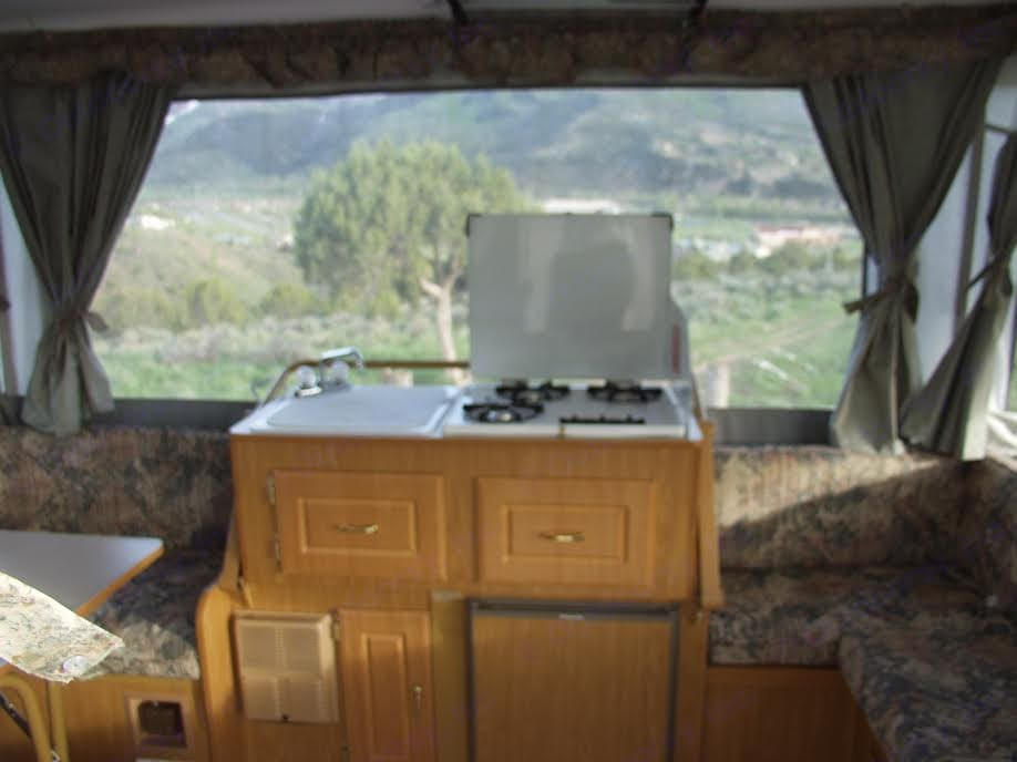 Stove and Sink. Coleman Pop Up 2002