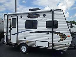 Awning provides shaded space.. Coachmen Clipper 2015