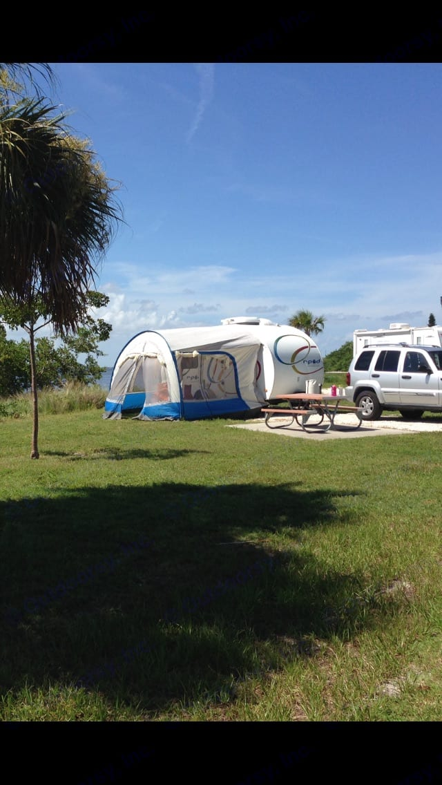 Our maiden voyage to Satellite Beach, Florida.. Forest River R-Pod 2010