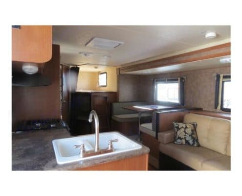 Living room/Dinette area with full slide out. Salem Cruise Lite Bunk House 2015