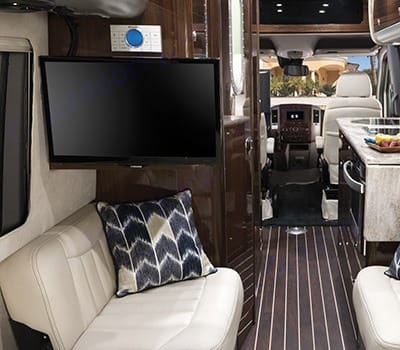 Interior from back of cabin. Airstream Interstate 2016