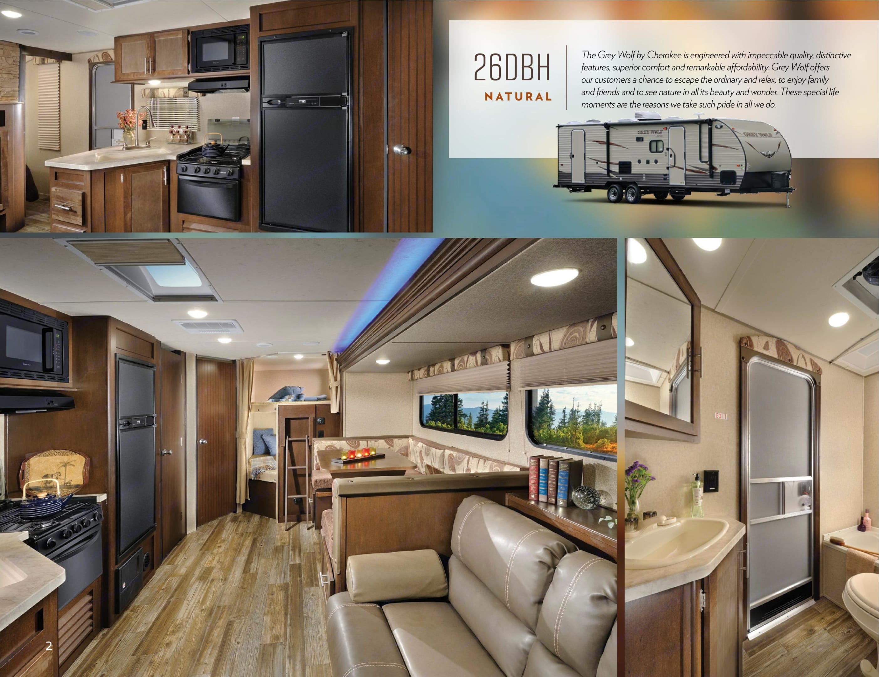 Interior Pics of our model (we have exact color scheme). Forest River Cherokee Grey Wolf 2016
