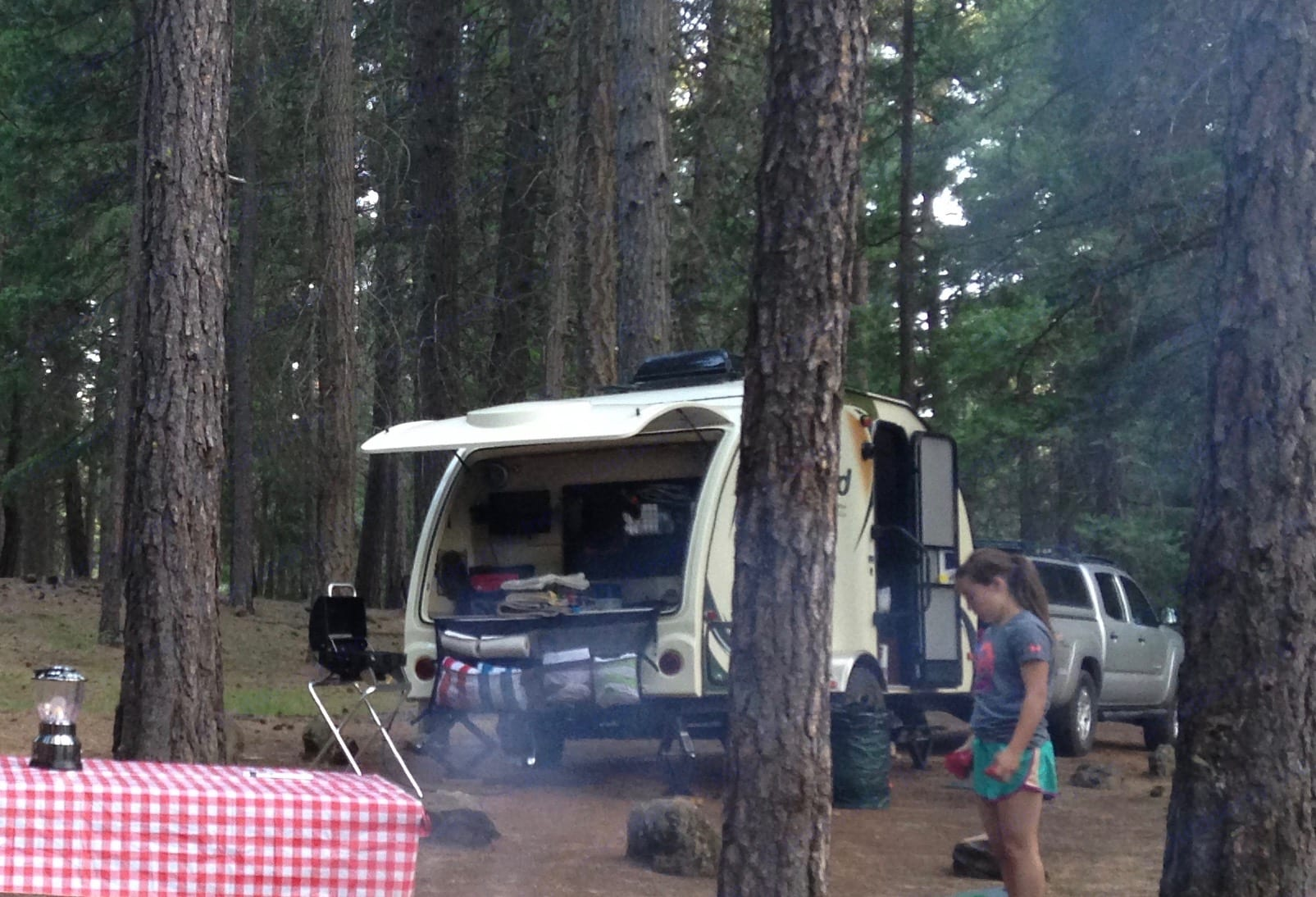 The 'Garage' (with a second sink and TV hook ups) is what makes this trailer!. Forest River R-Pod 2013