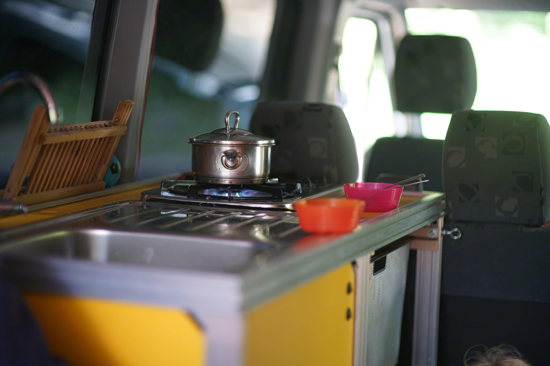 stove/sink setup. Dodge Sprinter Van 2004