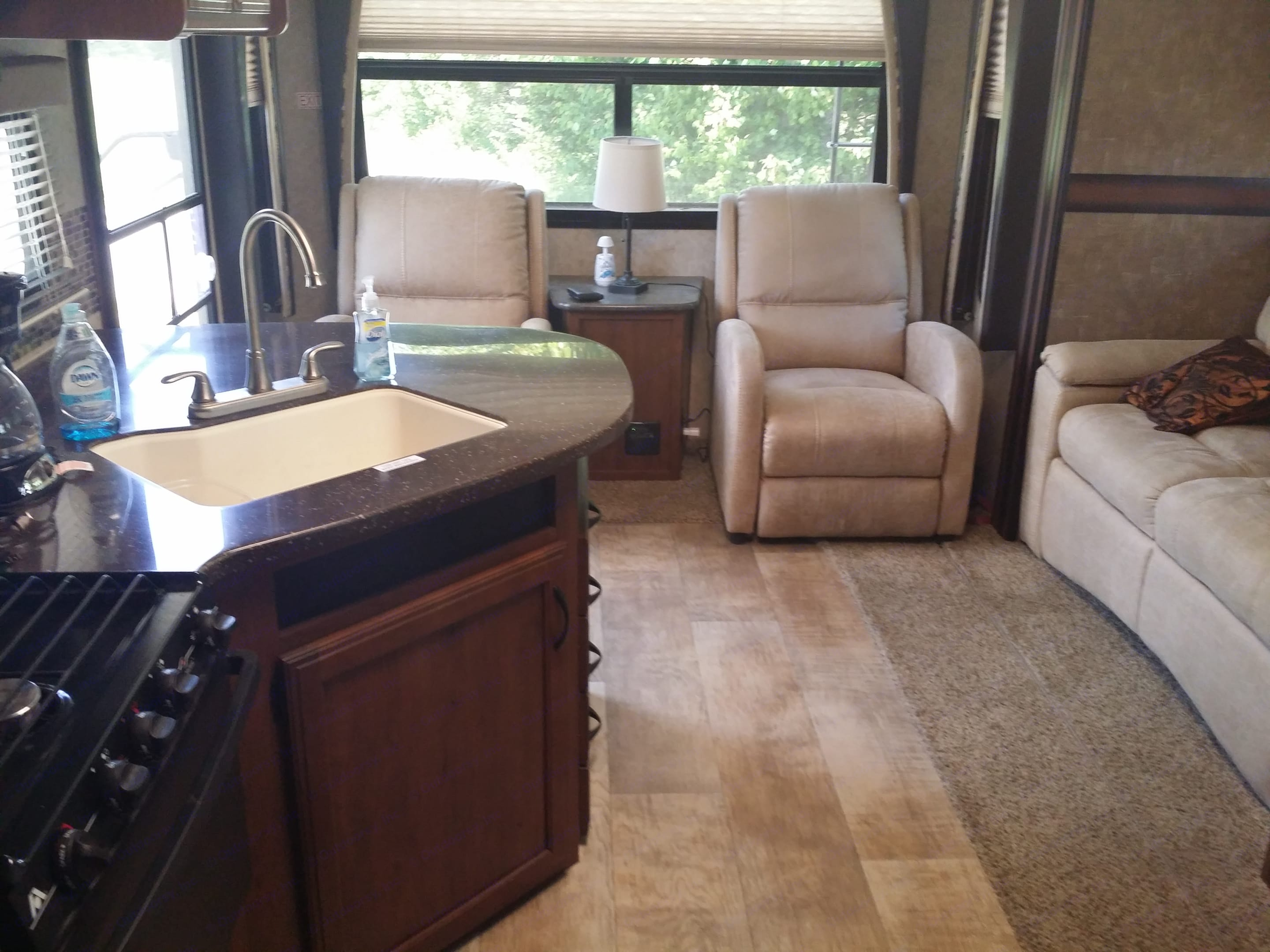 Relax in recliners. Jayco White Hawk 2016