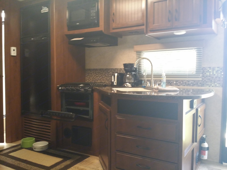 Kitchen area. Jayco White Hawk 2016