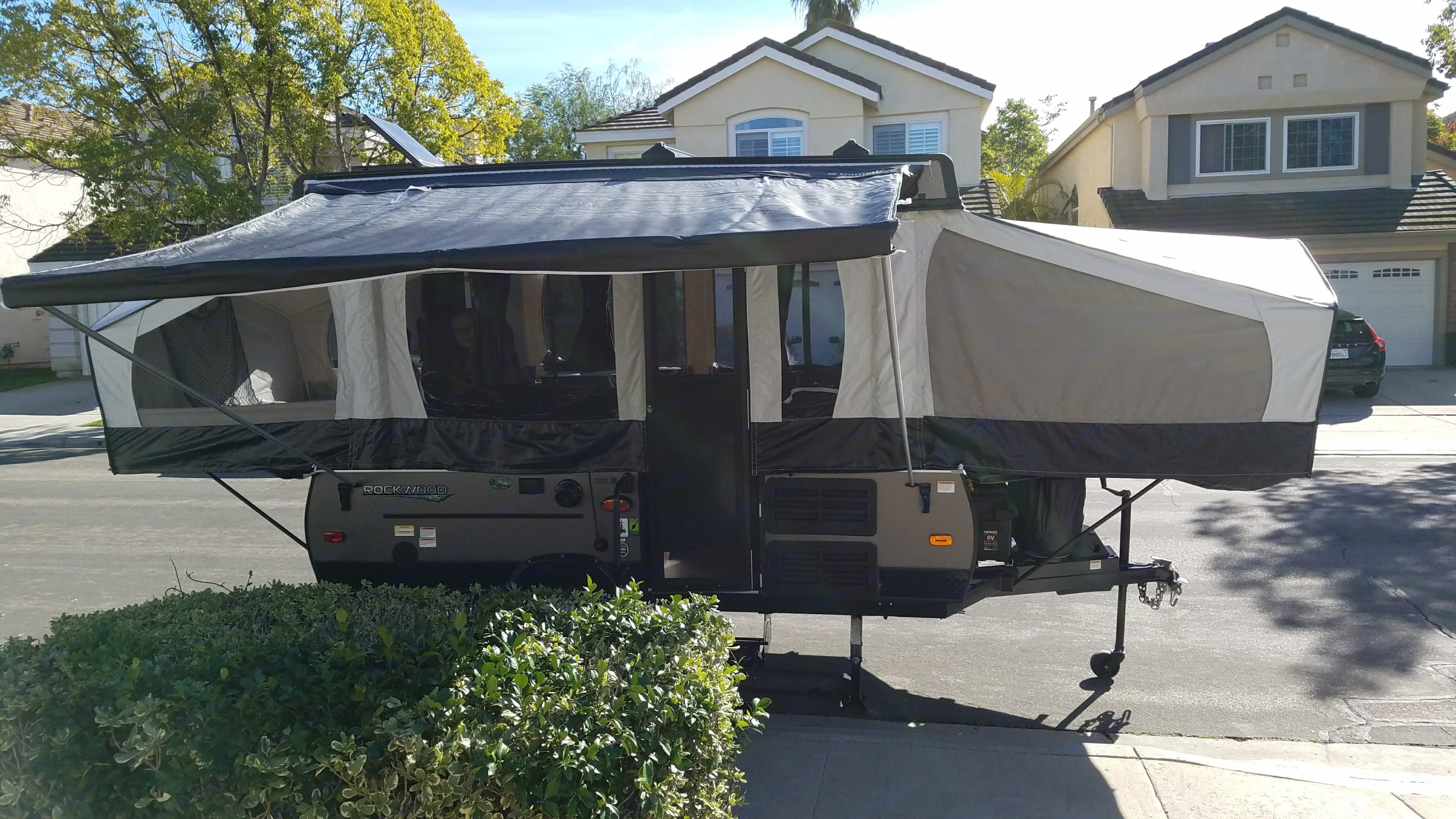 Front of the trailer, the awning is included in the rental.. Rockwood 1970esp 2017