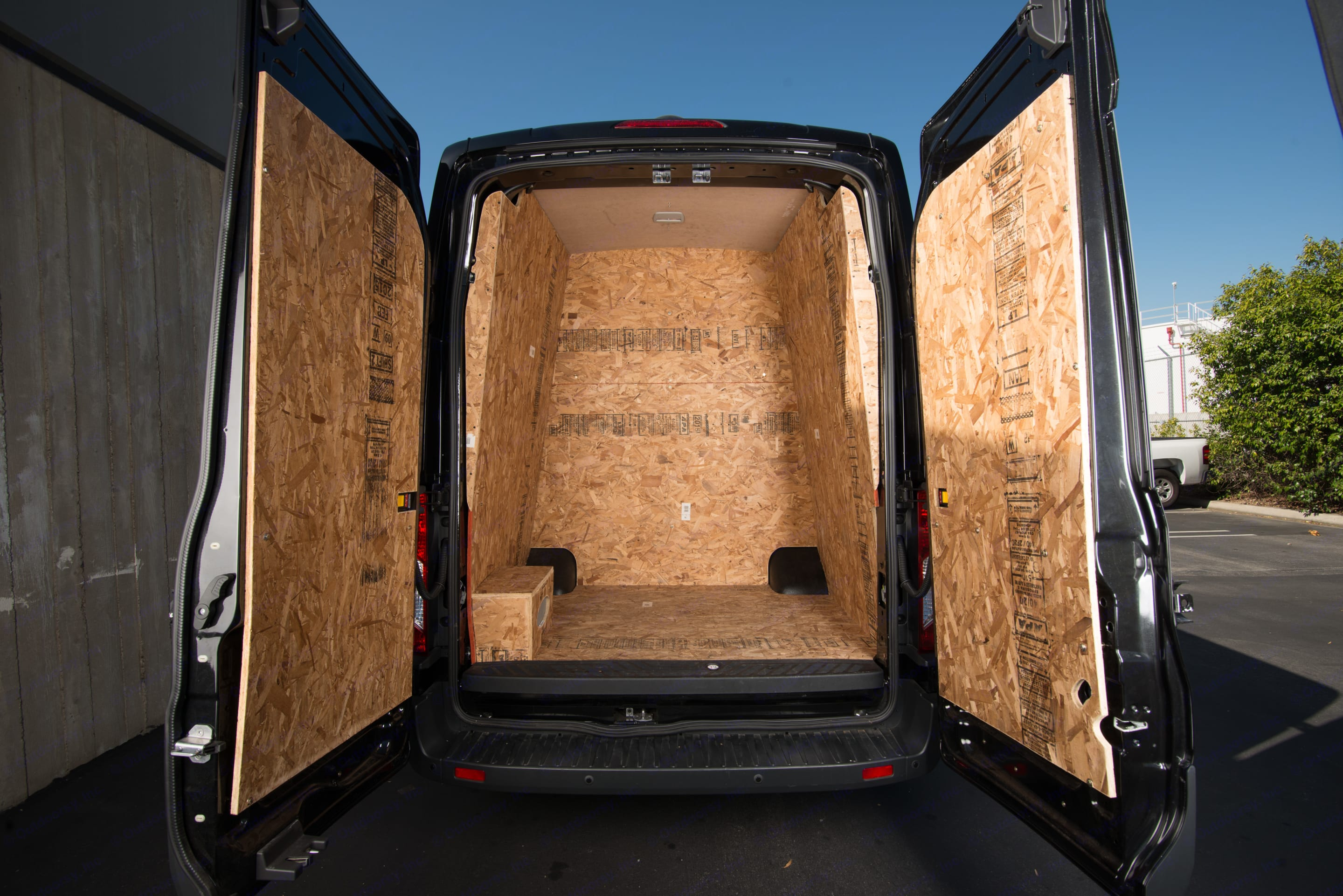 150 Sq Ft of protected storage. Ford Transit 350 HD 2015