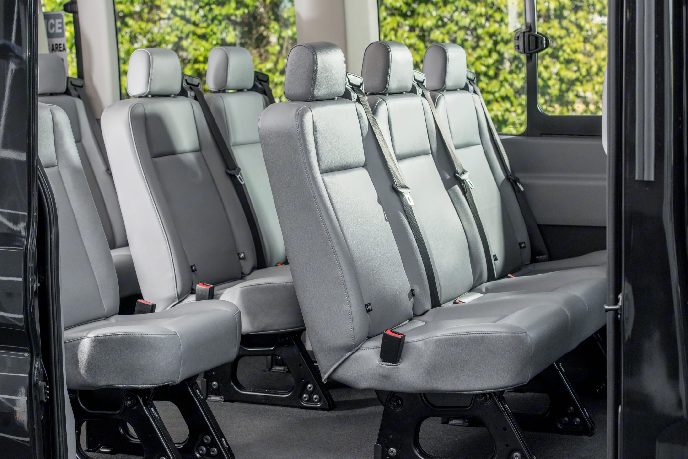 Seats 11 comfortably and 3 can sleep on rows while moving or parked.. Ford Transit 350 HD 2015