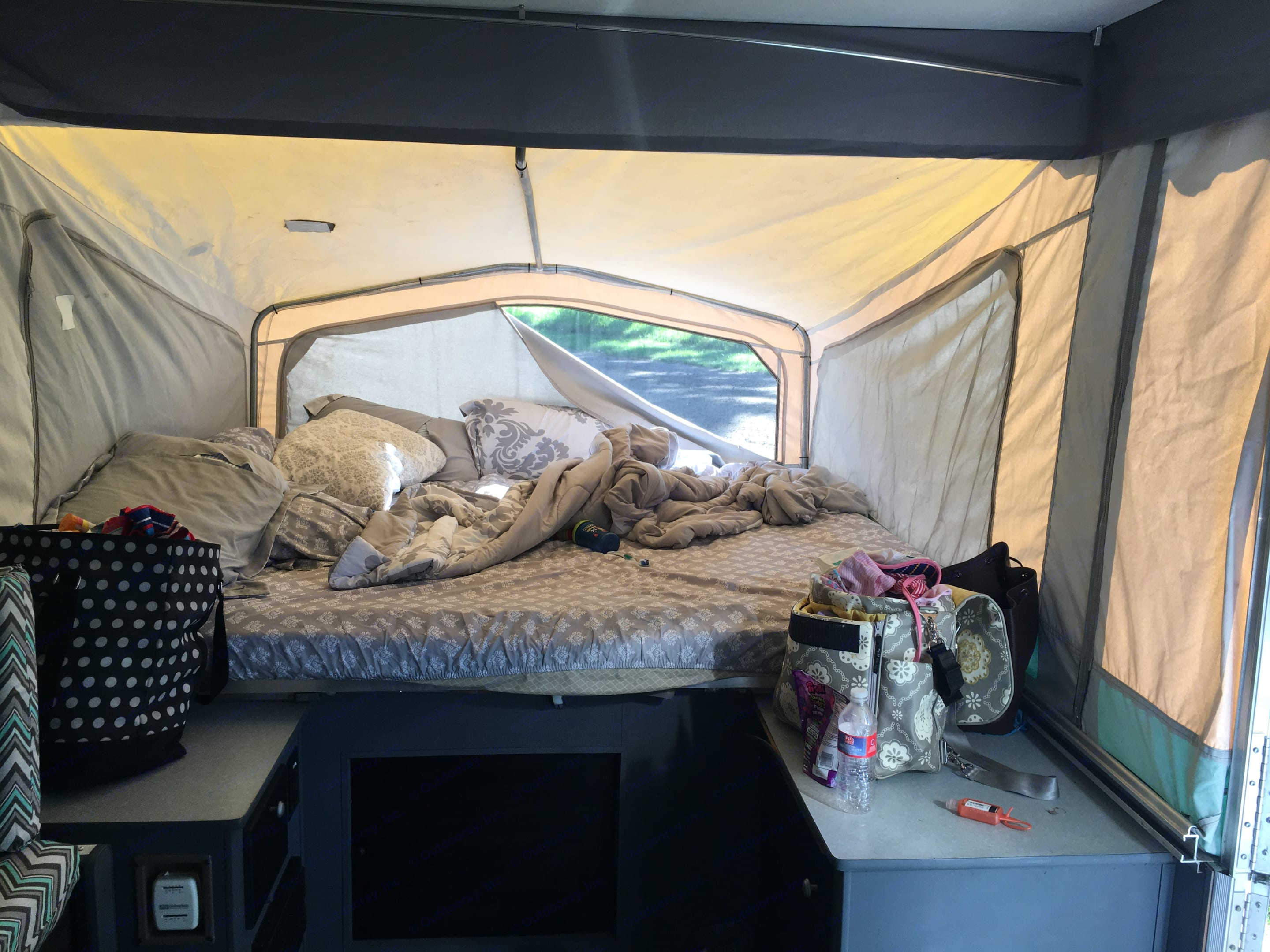 Taken to show updated floor and cabinets.. Starcraft Camping Trailers 2003