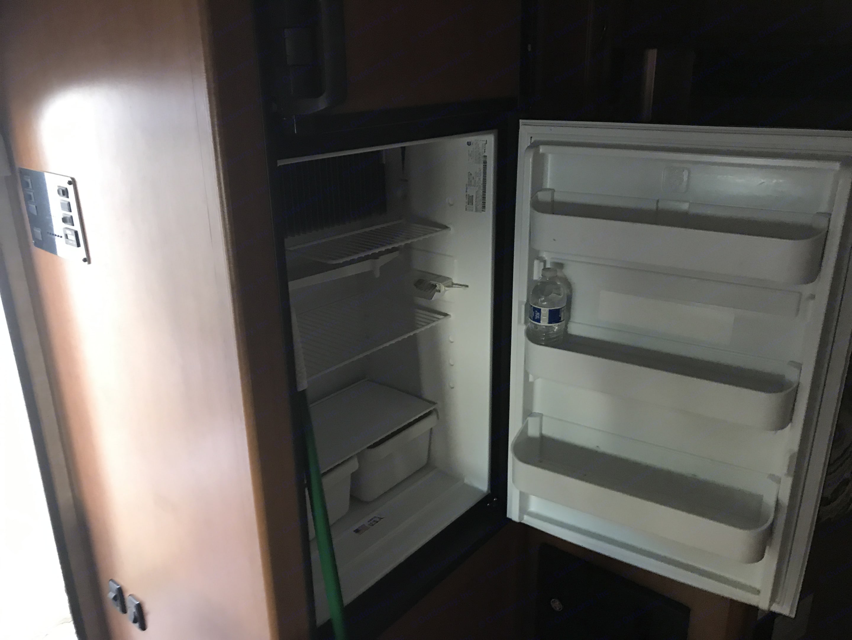 large fridge and freezer. coachmen freelander 2014