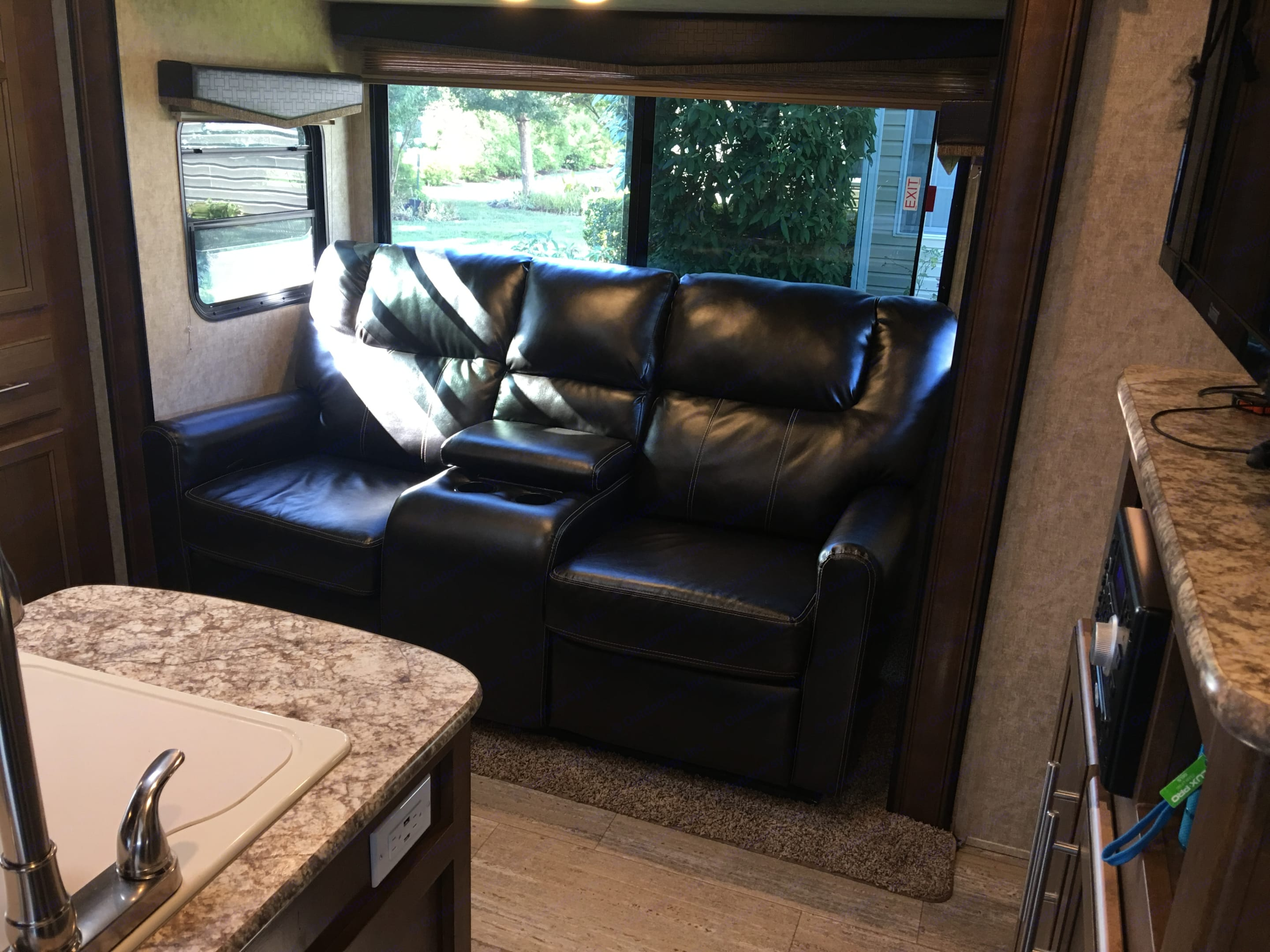 Very comfortable Captains chairs with swing out foot rests.. Prime Time Fury 2910 2016
