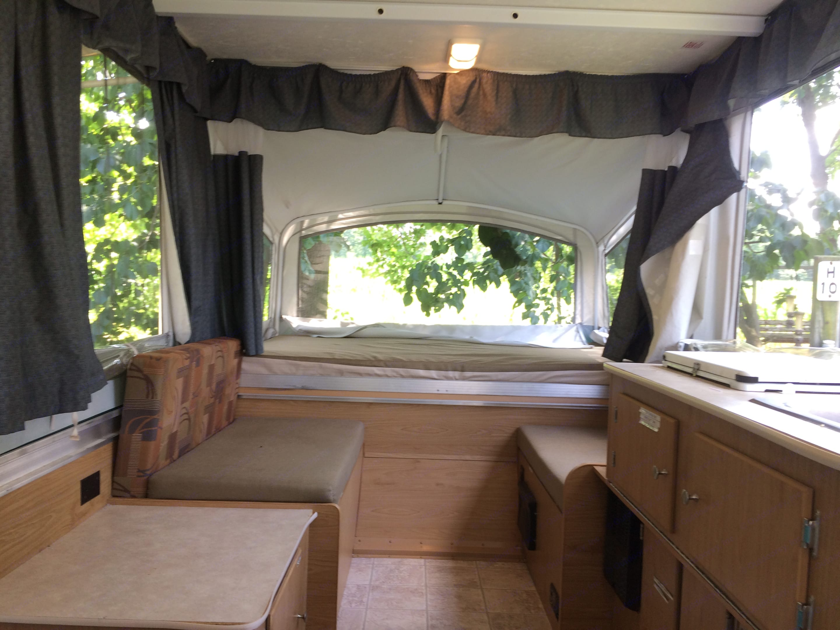 Enough space to change and all the flaps zip shut for privacy.. Fleetwood Sea Pine 2007
